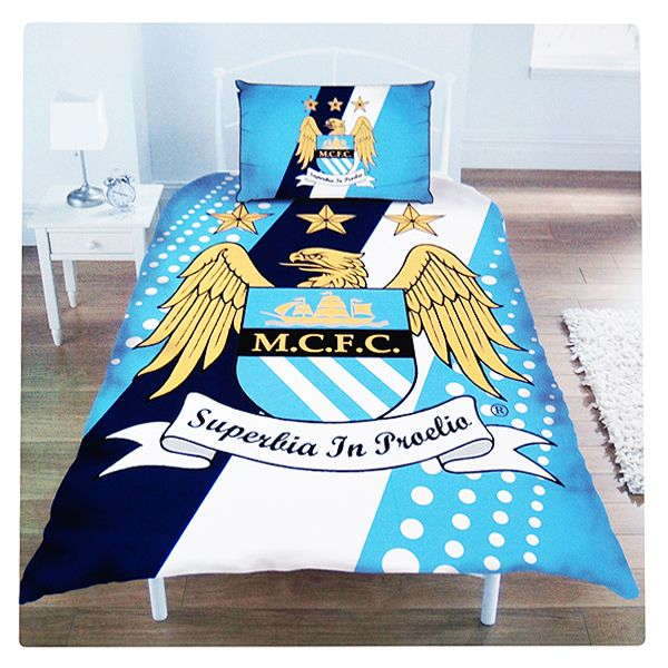 MANCHESTER CITY FOOTBALL CLUB SINGLE SIZE DUVET COVER ...